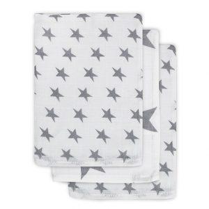 Jollein grijs hydrofiel washandjes sterren
