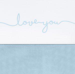 Jollein laken I love you blauw
