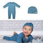 New born kleding set little lion blauw